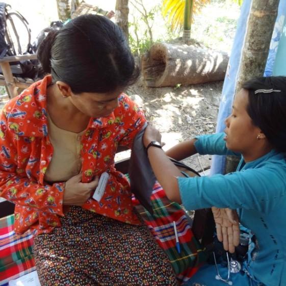 Checking-blood-pressure