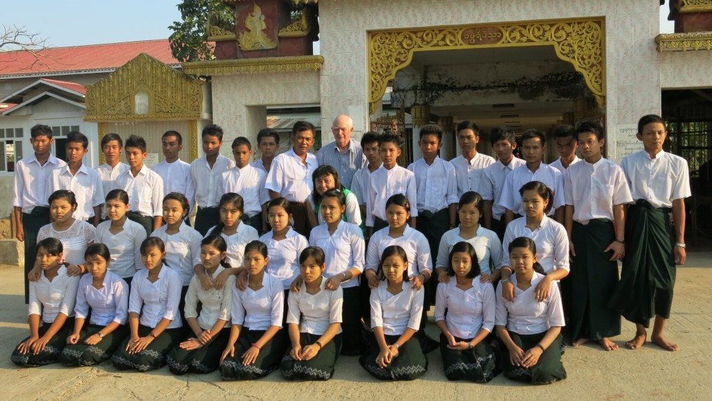 An assembly of graduates from the Helping the Burmese Delta educational work