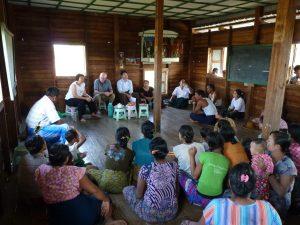 Meeting in Ywa Thar Aye to discuss the scheme