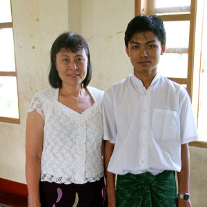 A scholarship student and the founder of the Helping the Burmese Delta charity